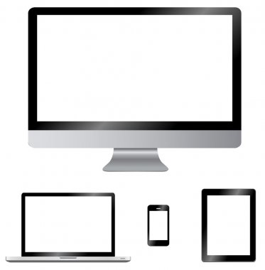 Modern digital computer screen