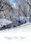 Paesaggio invernale con spazio per testo
