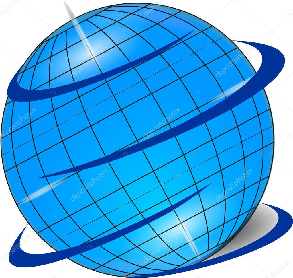 Oryginalny Globus Grafika Wektorowa Rysalka 65450681