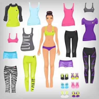 Dress up paper doll with