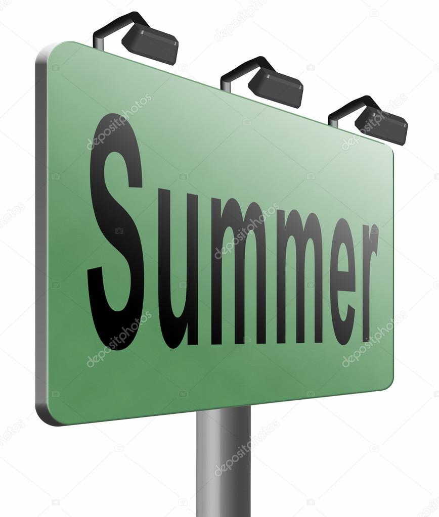 Horario de verano para unas vacaciones — Foto de stock © kikkerdirk ...