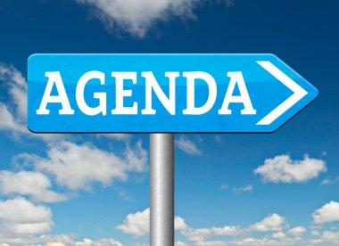 Agenda sign