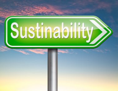Sustainability road sign