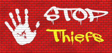 Catch thieves graffiti