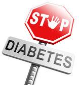 Fotografia Arresti il segno di diabete