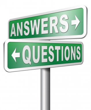 Answers or questions sign