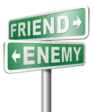 Friend or enemy,  best friends or worst enemies friendship stock vector