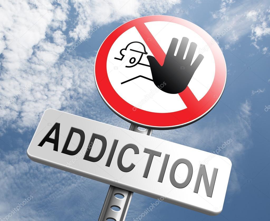 Stop addiction sign — Stock Photo © kikkerdirk #73976805