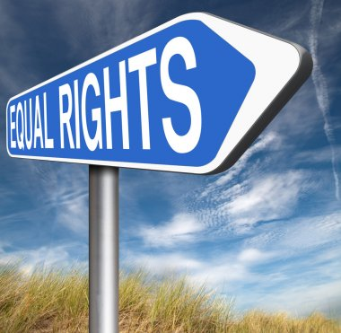 Equal rights sign