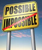 Fotografie Möglich oder unmöglich Zeichen