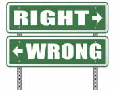 Fotografia rigth o risposta sbagliata o decisione