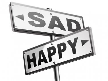 happy or sad road signs
