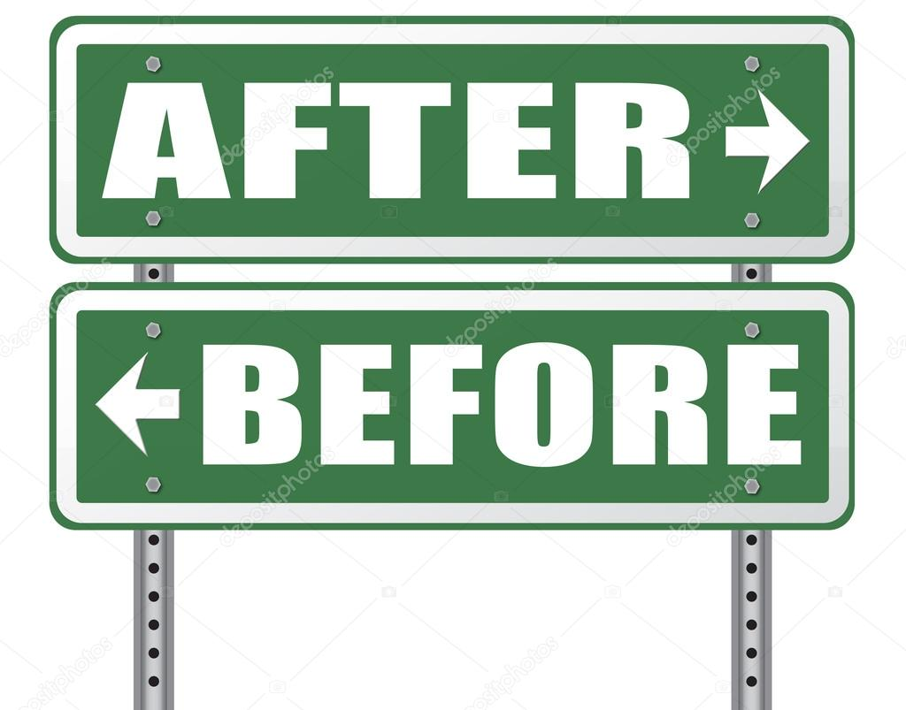before after comparison road signs stock photo kikkerdirk 79369944