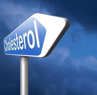 high cholesterol road sign