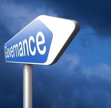 governance road sign