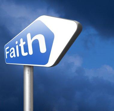 faith and trust road sign