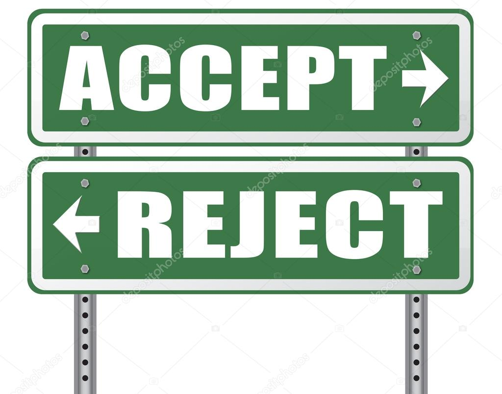accept_Accept or reject arrow sign — Stock Photo © kikkerdirk #79370382