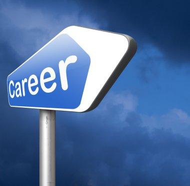 career move road arrow sign