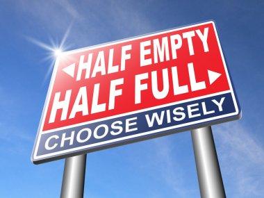 half full or empty glass