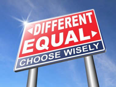 Equal or different road sign