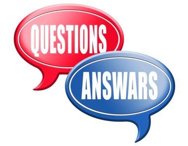 Answers questions  speech bubbles
