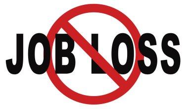 Stop job loss sign