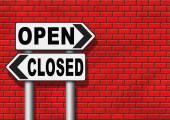 Fotografie Öffnen Sie oder schließen Sie, Öffnungszeiten