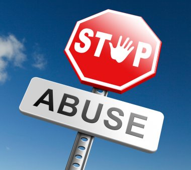 stop abuse sign