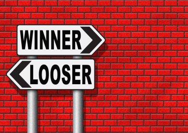 winner or looser sign