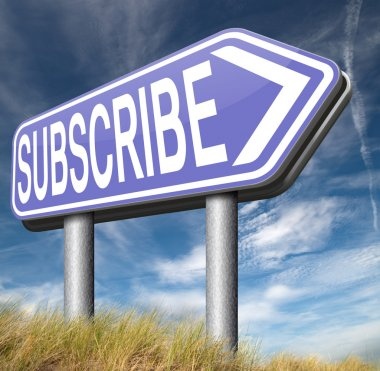 subscribe here sign