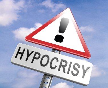 stop hypocrisy sign