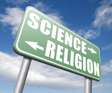 science religion relationship sign