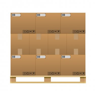 closed brown carton delivery boxes
