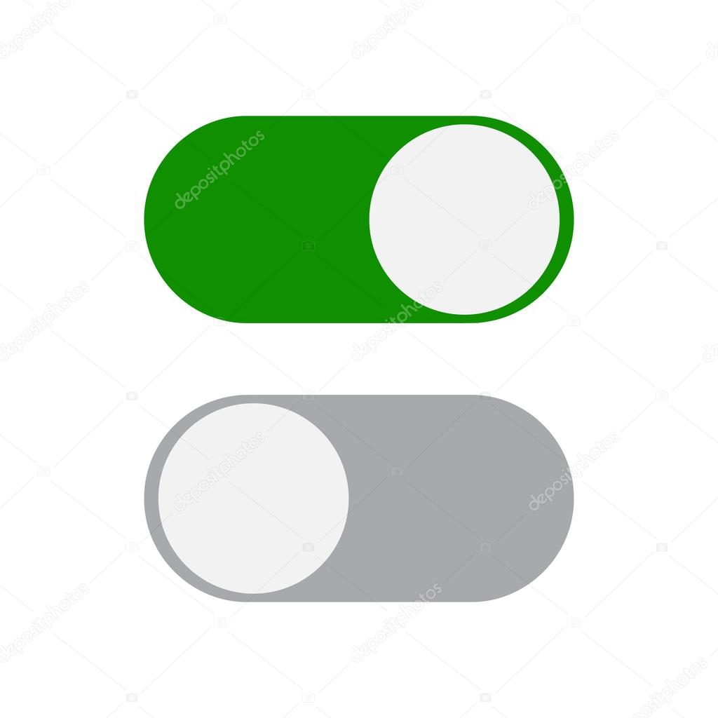 Toggle Switch Icon Stock Vector Drogatnev 105351844