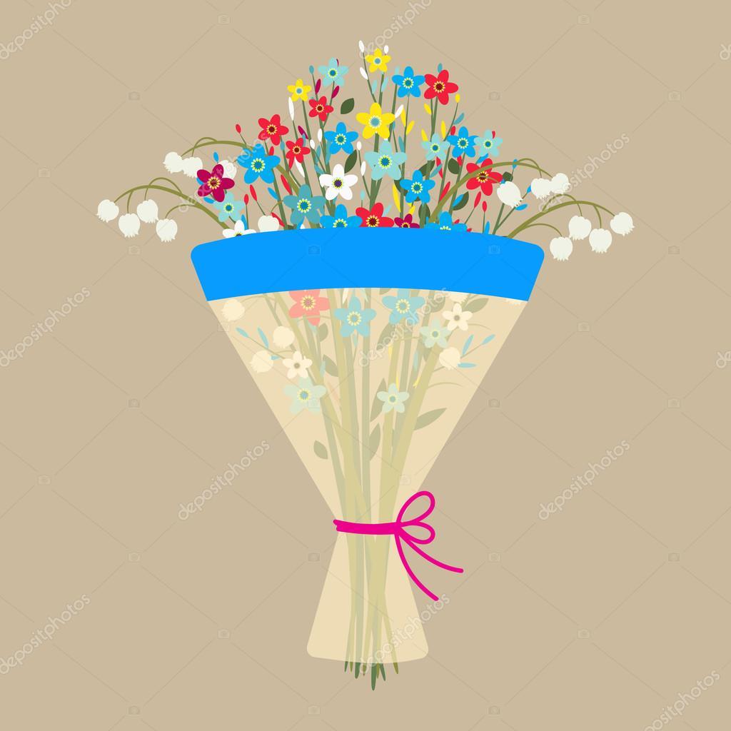 かわいい花束 ストックベクター Drogatnev 105355526