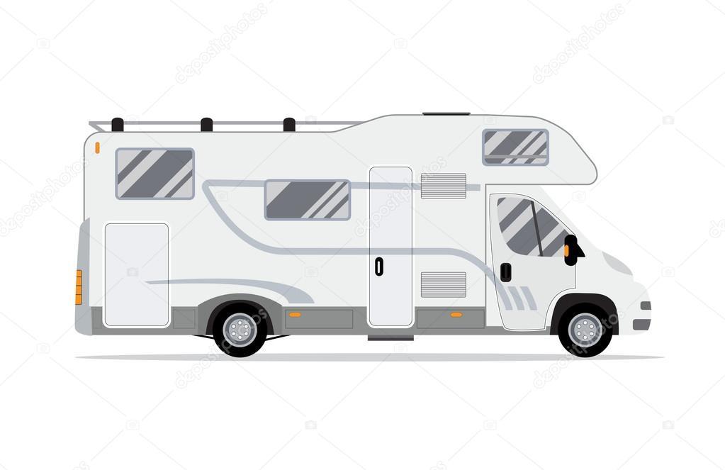 Caravanas camiones rodantes — Vector de stock © drogatnev #109897820