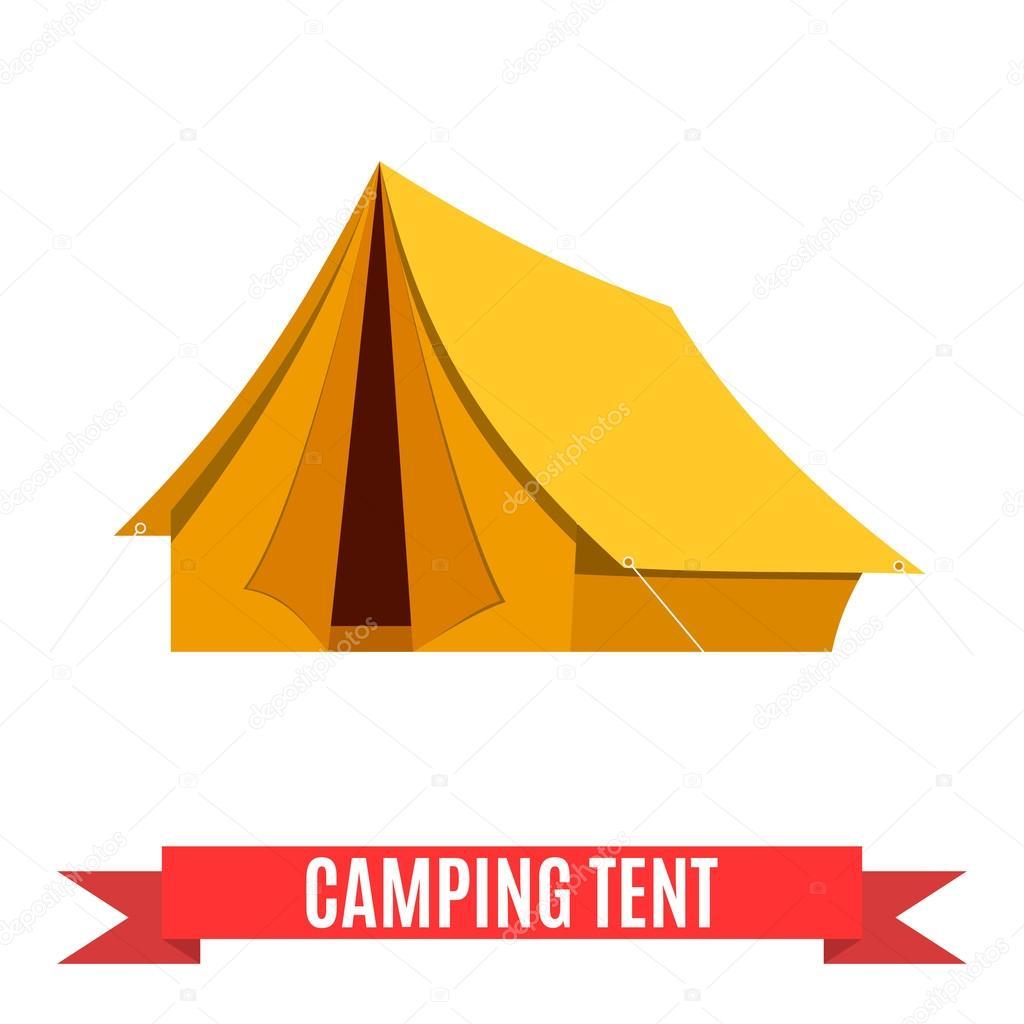 icono de vector de camping carpa — Vector de stock ...