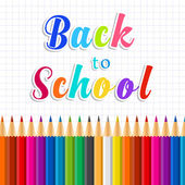 Back to school message on paper