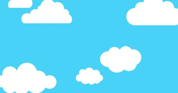 Kreslené mraky plovoucí
