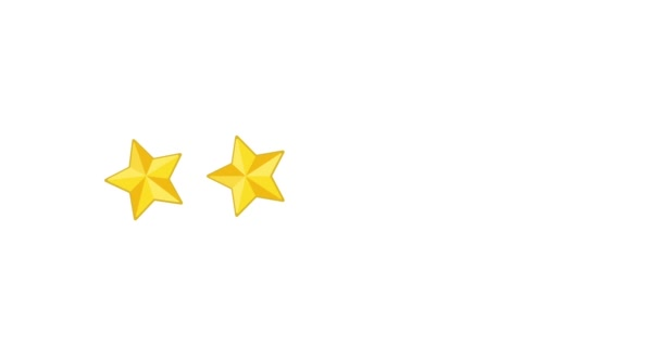 2D Motion 5 star rating animation. Rating five stars