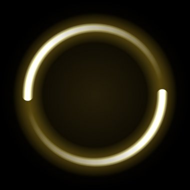 Gold flowing lights circle