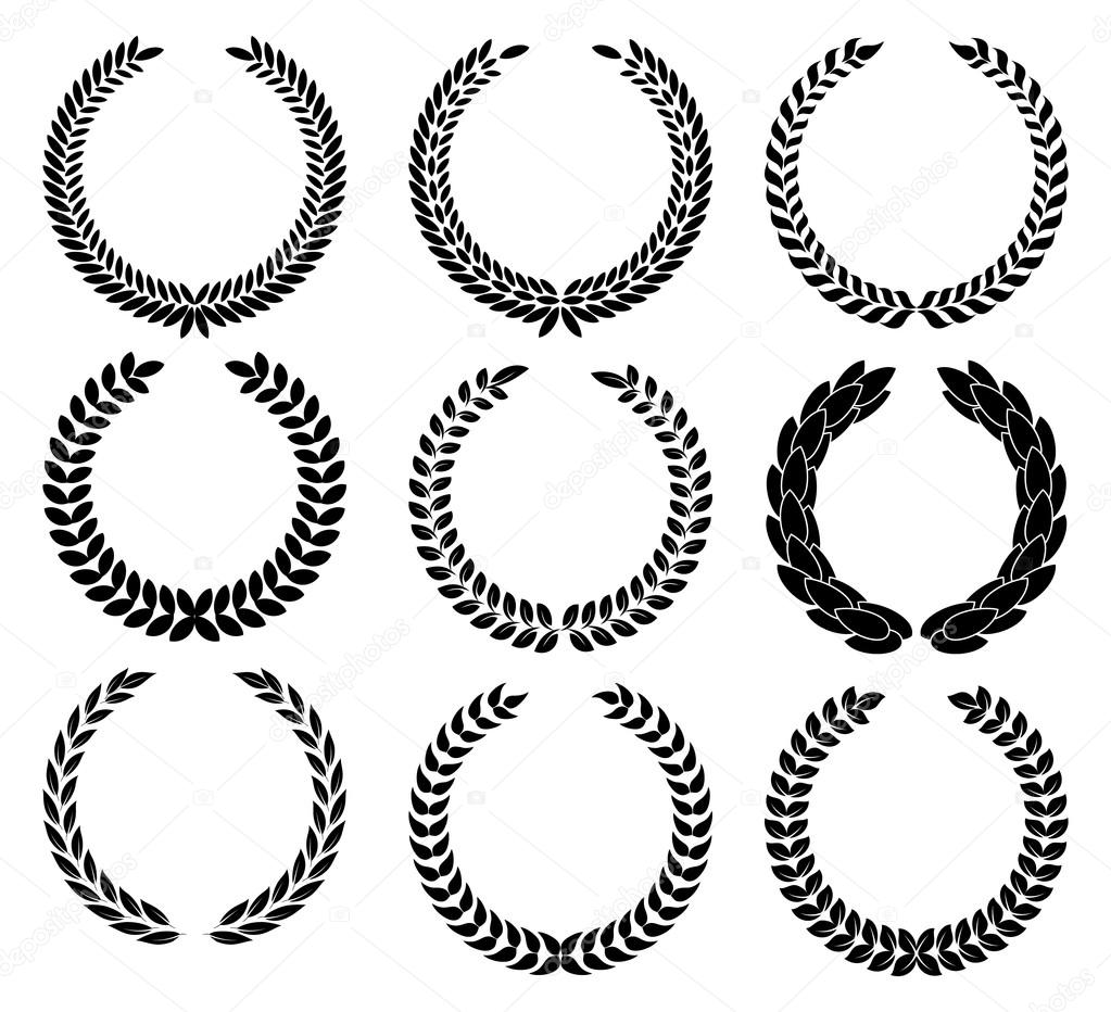 A Laurel Wreath Symbol Of Victory And Achievement Stock Vector