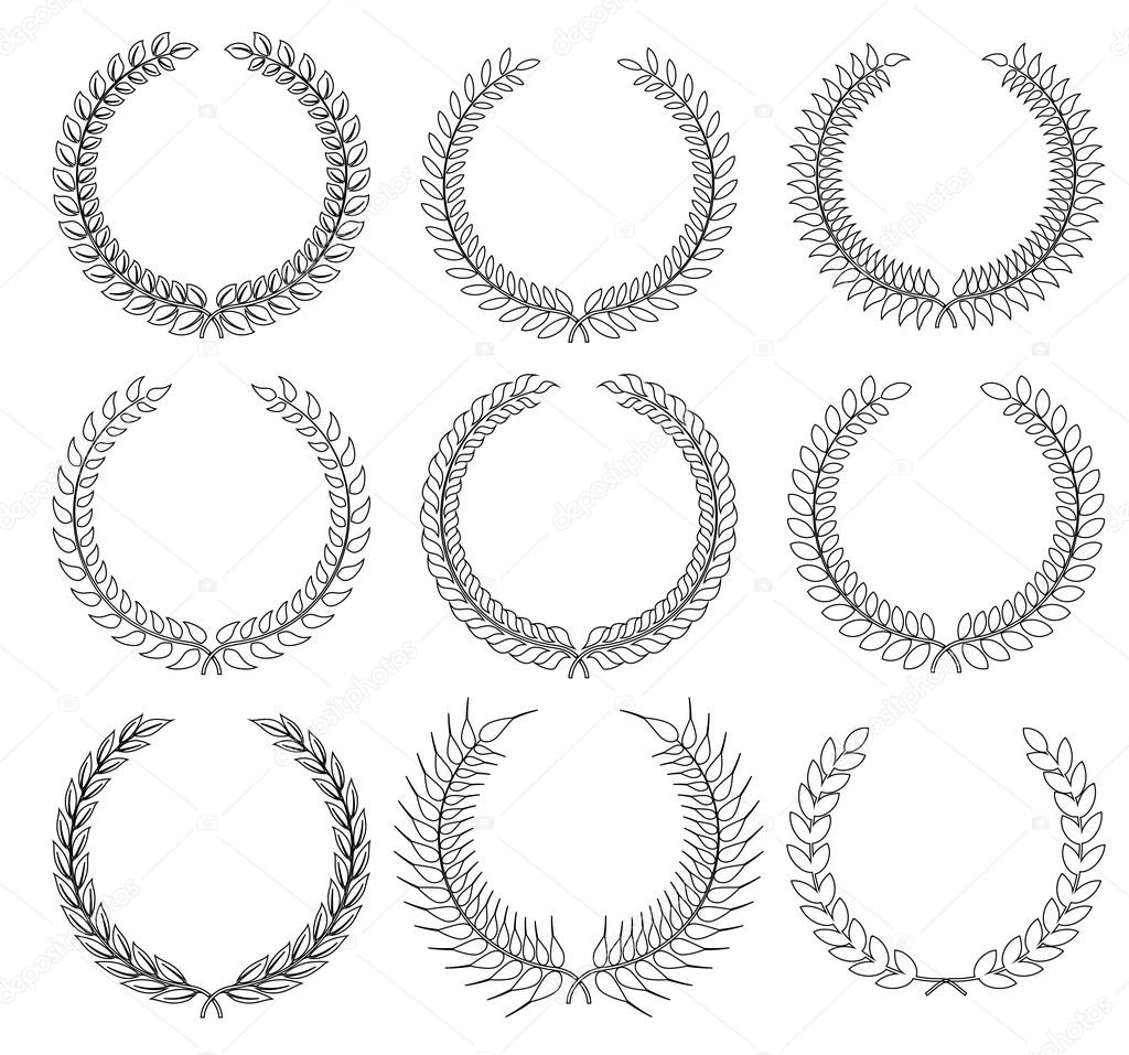 A laurel wreath symbol of victory and achievement stock set laurel wreath symbol of victory and achievement design element for construction of medals awards coat of arms or anniversary logo buycottarizona Image collections
