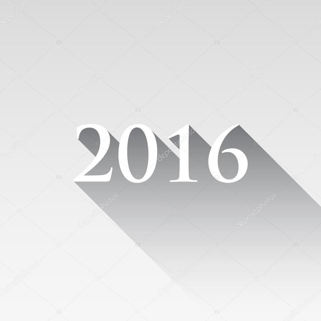 Glückliches neues Jahr 2016-Nachricht — Stockvektor © drogatnev ...
