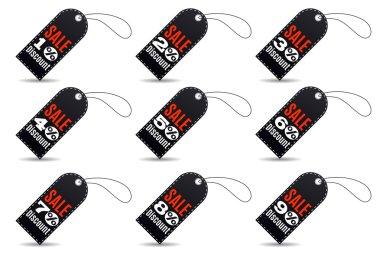 Rectangular Black Friday sales tag set
