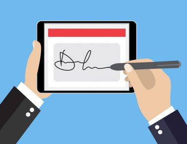 Digital signature on tablet