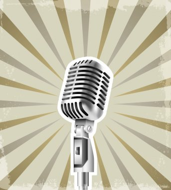 microphone retro background