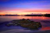 Fotografie Dawn Glühen des Sonnenaufgangs an Edwards Beach