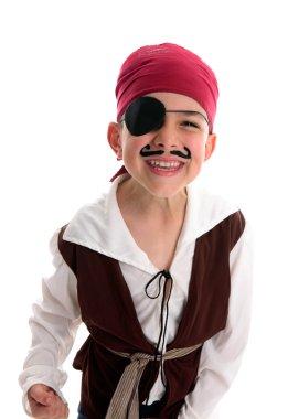 Happy boy pirate costume