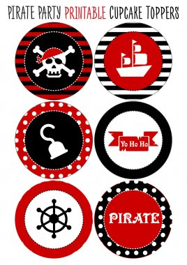 Party set printable. Pirate theme party